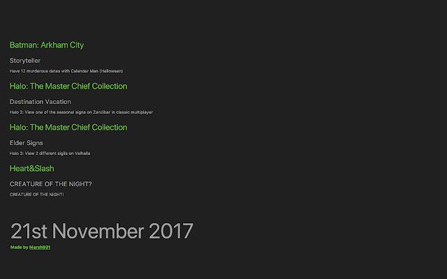 Achievement Calendar