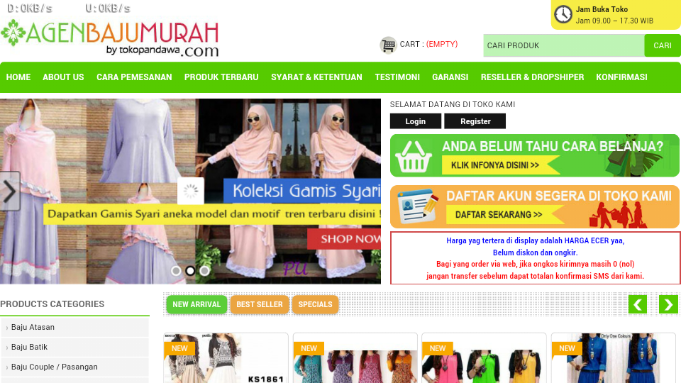 Agen baju murah 2.0- screenshot
