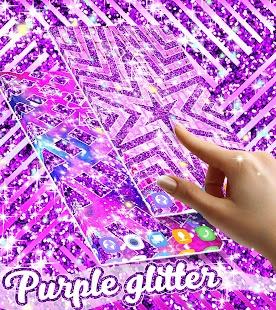 Purple glitter live wallpaper - náhled