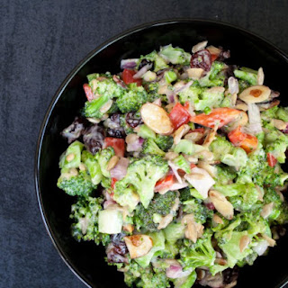 Vegan Broccoli Salad with Dried Cranberries