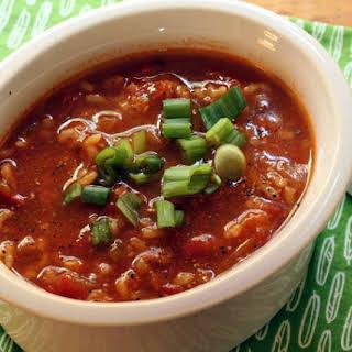 Spicy Salsa Tomato Soup.