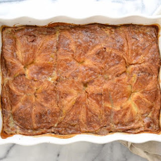 Croissant Bread Pudding With Caramel Sauce