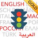 Führerschein multilingual GOLD icon