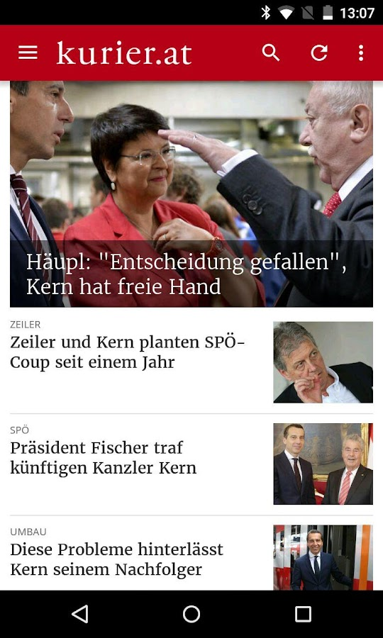 kurier.at- screenshot