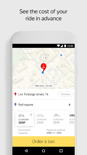 Yandex.Taxi Ride-Hailing Service screenshot 1