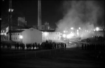 Photo: The Kent Stte Reserve Officers Training Corps (ROTC) building fire burns out late Saturday night.