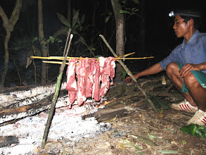 Photo: Cooking on the jungle trekking-3 Days Nam Ha Jungle Camp in Luang Namtha, Laos