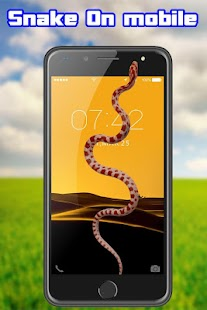 Snake on Mobile Screen Joke - náhled