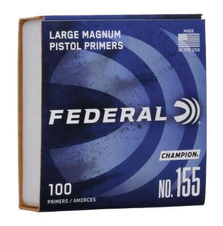Federal Primers Large Pistol Magnum No 155
