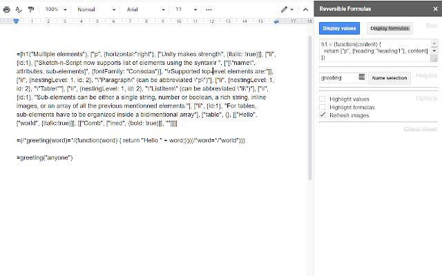 Formulas for Google Docs - G Suite Marketplace