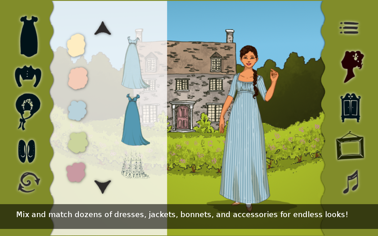 Jane Austen Dress Up- screenshot