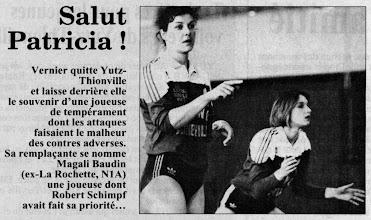 Photo: 17-06-97 Patricia Vernier quitte Thionville pour Nancy