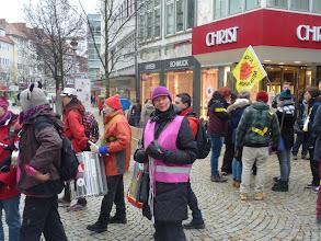 Photo: die Trommlergruppe aus Braunschweig mit Sabine Schmedt