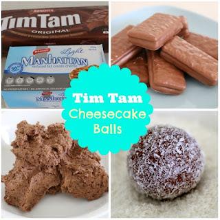 Tim Tam Cheesecake Balls
