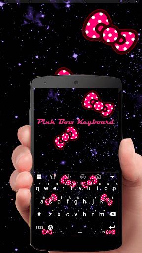 Pink Bow Glitter Keyboard