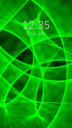 Green Neon Wall Lock