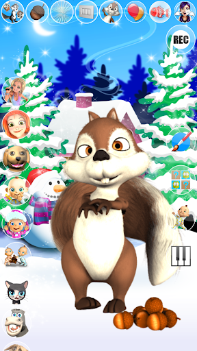 Talking Squirrel Frozen Forest apkmind screenshots 1