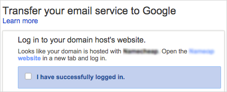 Log in to your domain host's website