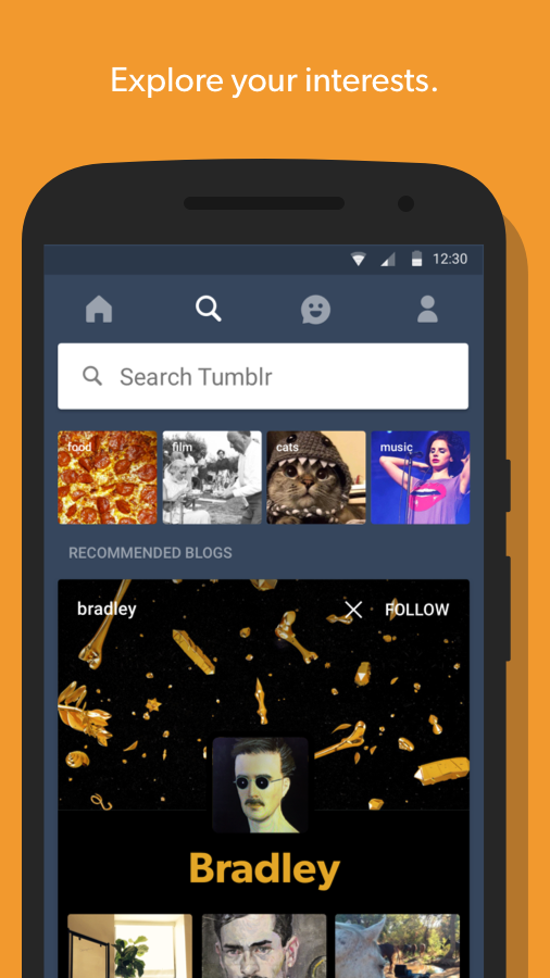Screenshots of Tumblr for iPhone
