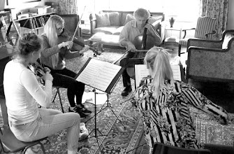 Photo: Gut Feeling rehearsing in the Homestead, 7th May