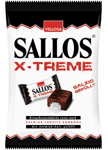 X-treme - Saltlakritskaramell fylld med salmiaksalt – Sallos