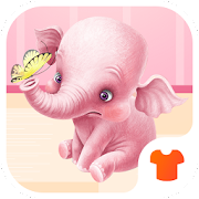 Cartoon Theme - Pink Elephant