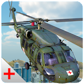 Army Helicopter Ambulance 3D