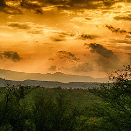 Dahrnol by Abdul Rehman - Landscapes Sunsets & Sunrises ( clouds, mountains, green, sunset, sunlight )