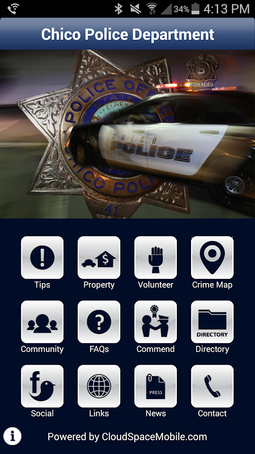 Chico Police Department- screenshot