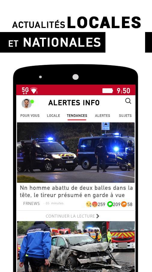 Alertes info: Actualité locale et alerte d'urgence Screenshot 0