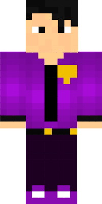 It is a skin of Purple Guy from FnaF (this skin is from an animation)