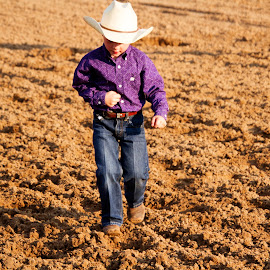 Little Cowboy by Scott Thomas - Babies & Children Children Candids ( cowboy, boots, hat, rodeo, child )