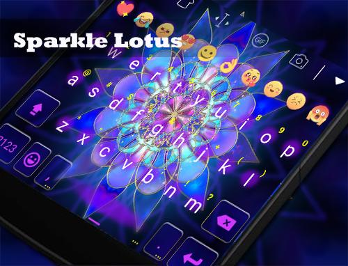 玩免費遊戲APP|下載Sparkle Lotus Eva Keyboard-Gif app不用錢|硬是要APP
