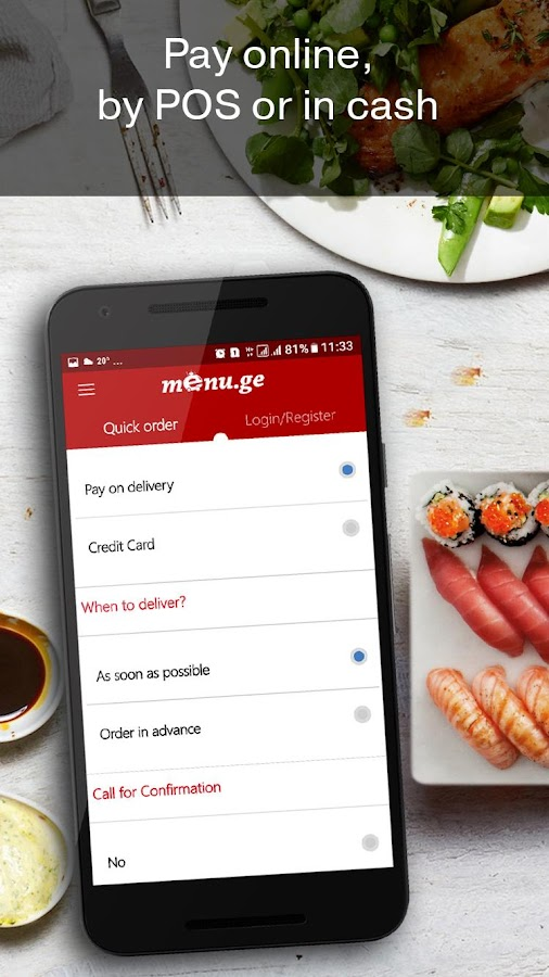 Menu.ge — restaurant food delivery- screenshot