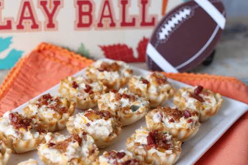 "Tailgating Tasty Tartlets ""These Tailgating Tasty Tartlets are spicy, cheesy and full..."