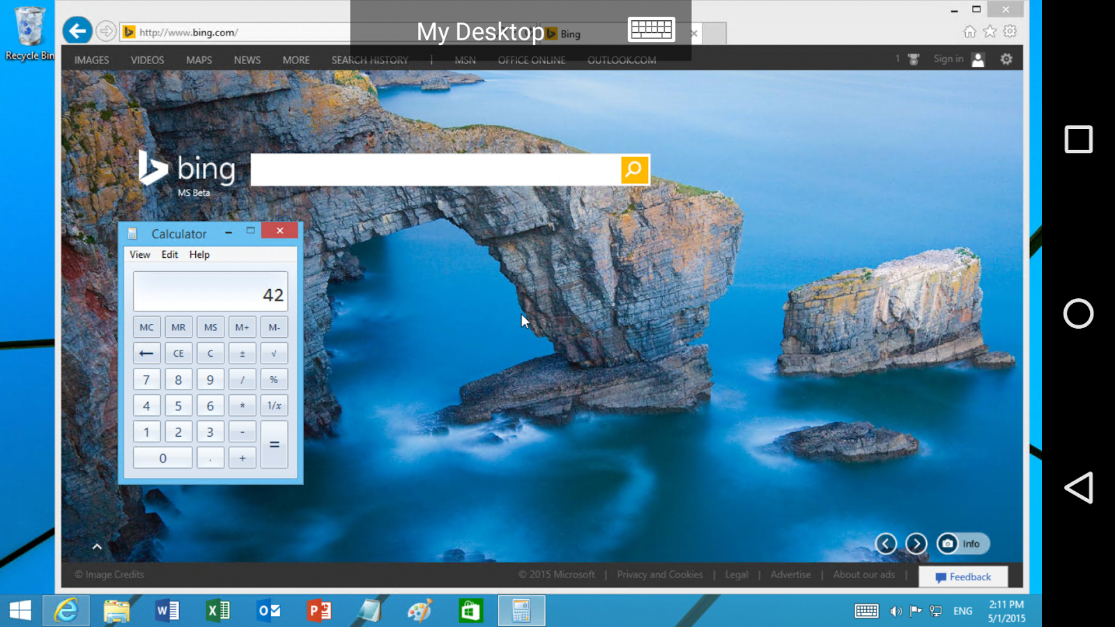Microsoft Remote Desktop- screenshot