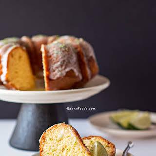 Key Lime Bundt Cake with Coconut Lime Glaze.