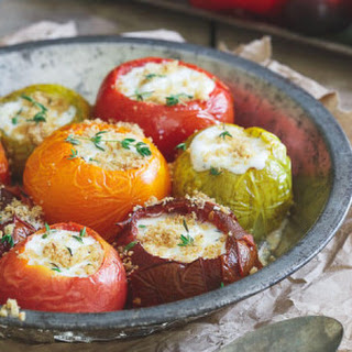 Roasted Stuffed Heirloom Tomatoes