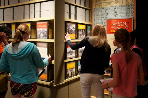 Students Exploring the Public Vaults
