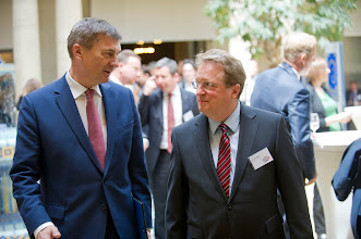 Photo: Andrus Ansip, vice-president of the European Commission for the digital single market; Paul Hofheinz, president and co-founder of the Lisbon Council and director of the European Digital Forum