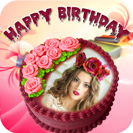 Customize Name Photo Birthday Cake Frame And Cards On PC Mac