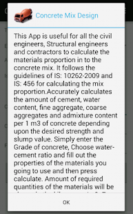 Concrete Mix Design- screenshot thumbnail
