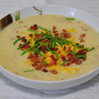 Crock Pot Loaded Baked Potato Soup.