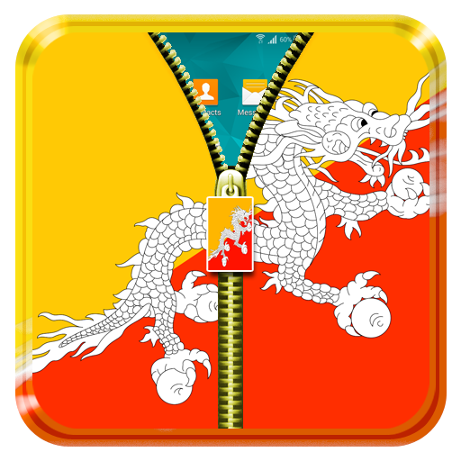 Bhutan Flag Zipper Lock Screen 工具 App LOGO-硬是要APP