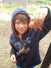 Photo: Ready to eat his first crawdad