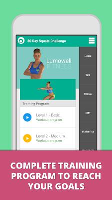 Squat Challenge 30 Day Workout - screenshot