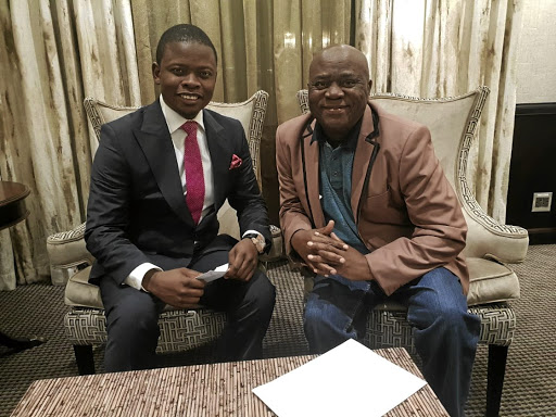 Shepherd Bushiri and mokhukhu gospel singer Solly Moholo have joined forces.