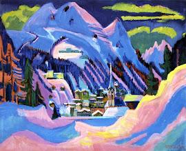"Photo: Ernst Ludwig Kirchner, ""Davos nella neve"" (1923"