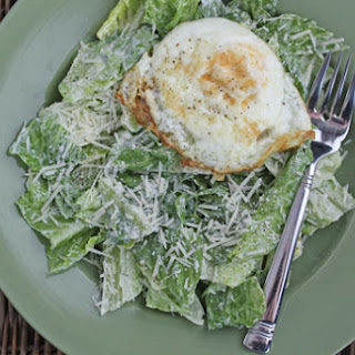 Fried Egg Caesar Salad.