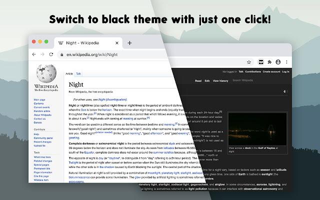 Dark Theme for Chrome